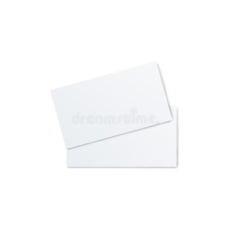 Aviador en blanco, invitación o ejemplo realista doblado de la maqueta del vector del folleto 3d ilustración del vector