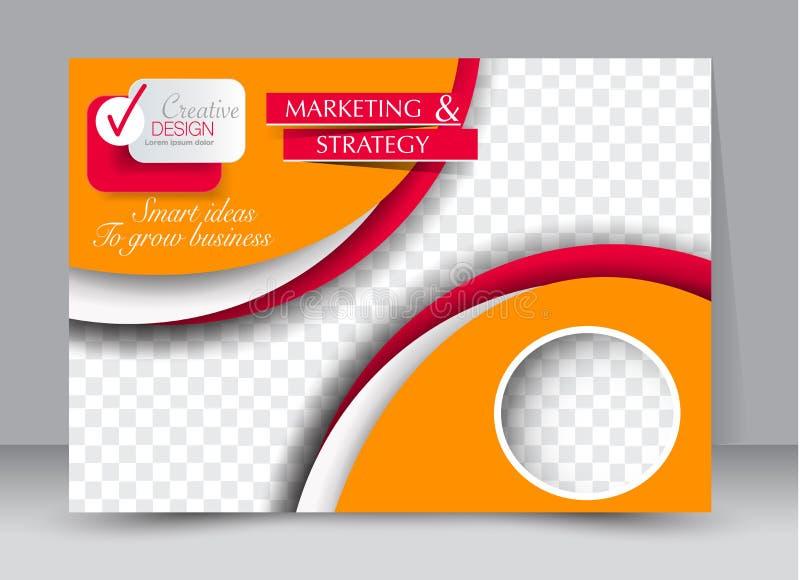 Aviador, folleto, orientación del paisaje del diseño de la plantilla de la cartelera ilustración del vector