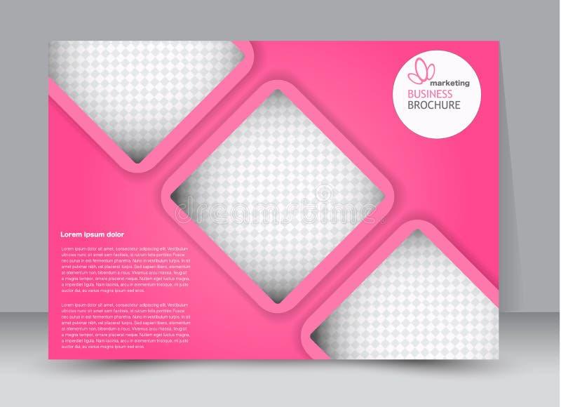 Aviador, folleto, orientación del paisaje del diseño de la plantilla de la cartelera libre illustration