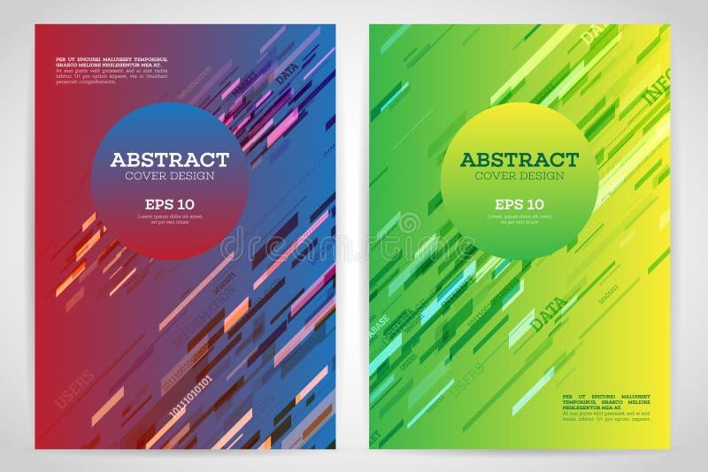 Aviador geométrico abstracto de la cubierta stock de ilustración
