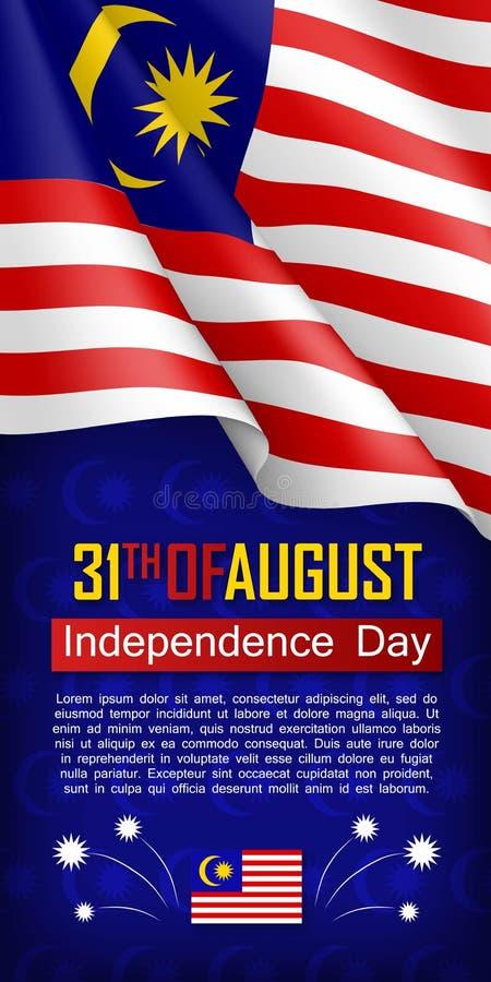 Aviador malasio de la vertical del Día de la Independencia ilustración del vector