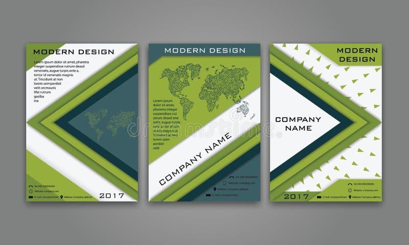 Aviador moderno abstracto del negocio, folleto, cartel, informe anual, plantilla del vector de la portada de revista en color azu libre illustration