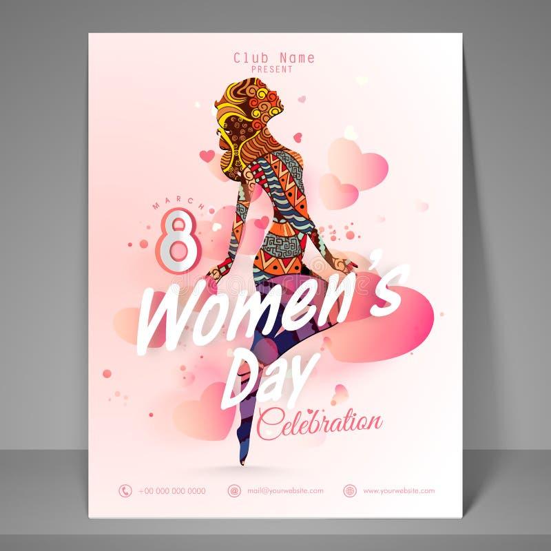 Aviador para la celebración del día de las mujeres felices libre illustration