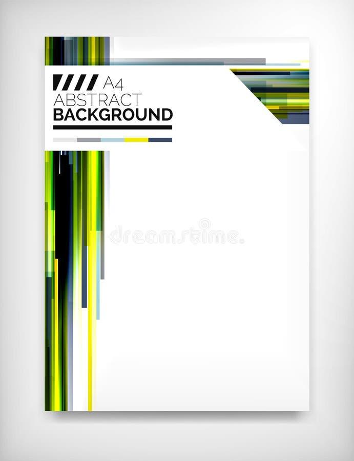 Aviador, plantilla del diseño del folleto, disposición ilustración del vector