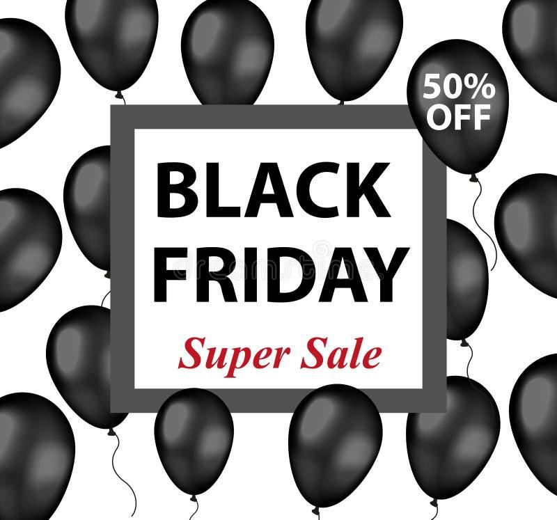 Aviador promocional de Black Friday, cartel, invitación, bandera Modelo para su diseño Oferta especial, descuentos Vector libre illustration