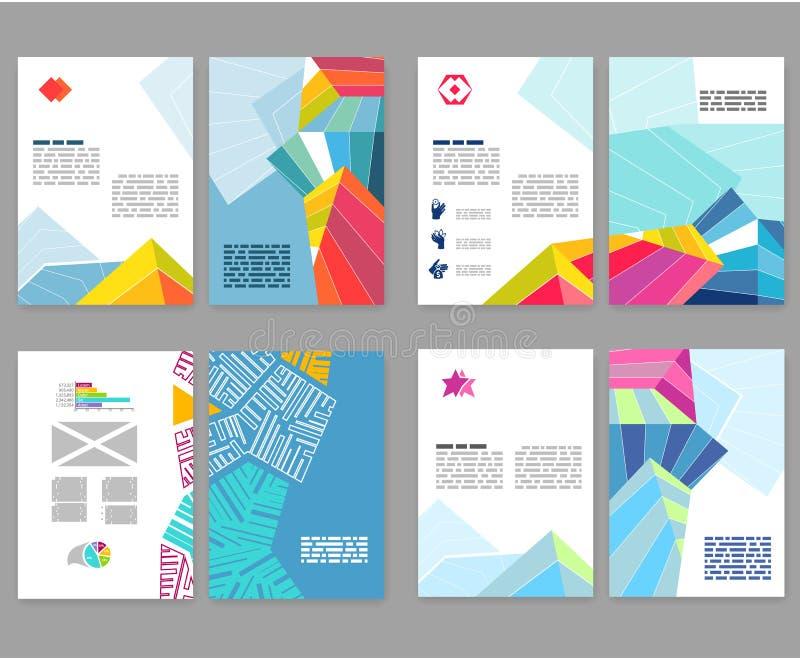Aviador, prospecto, sistema de la disposición del folleto Modelo Editable del diseño A4 libre illustration