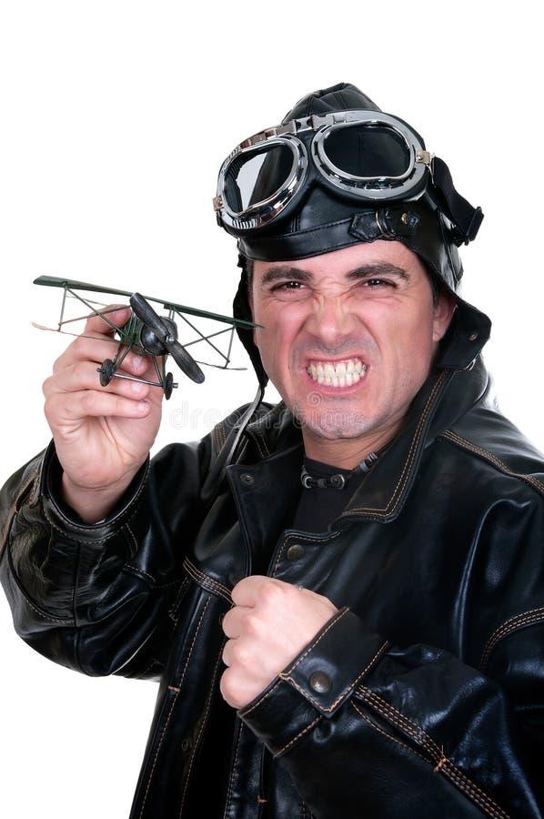 Aviador retro fotografia de stock