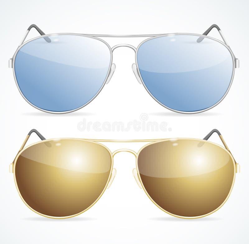 Aviador Sunglasses Set Vector ilustración del vector