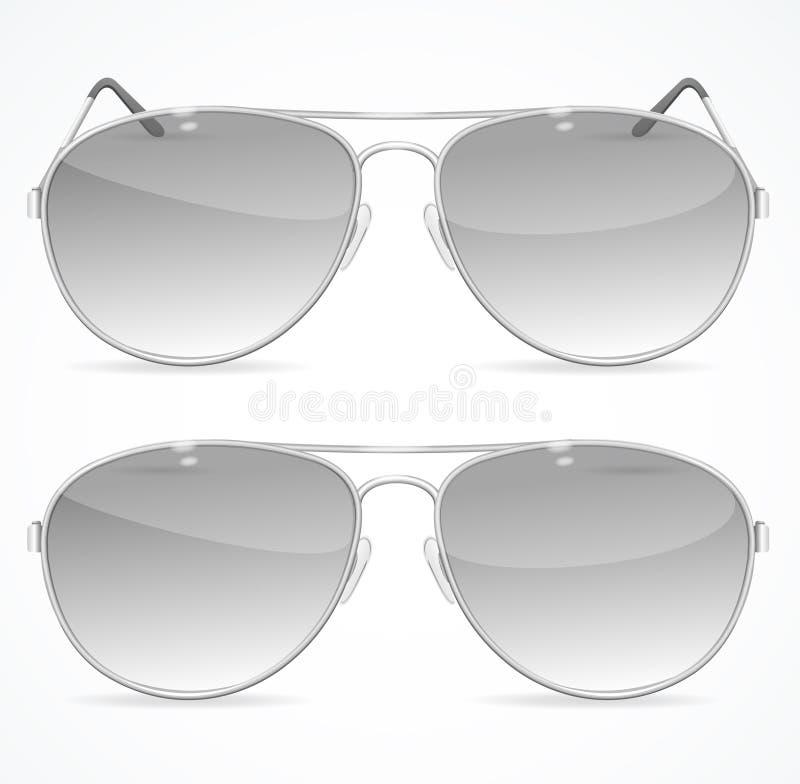 Aviador Sunglasses Set Vector libre illustration