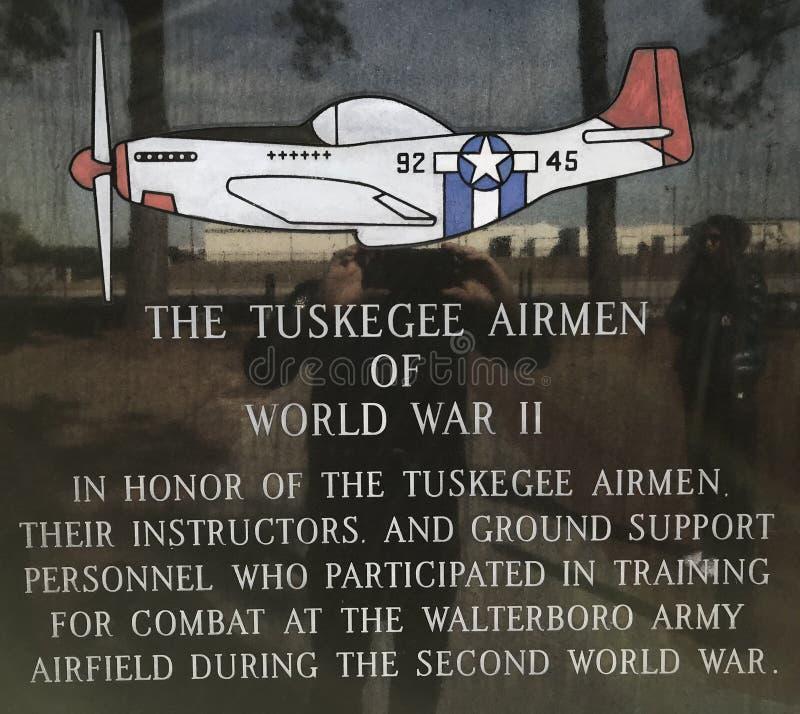 Aviadores de Tuskegee da segunda guerra mundial foto de stock royalty free