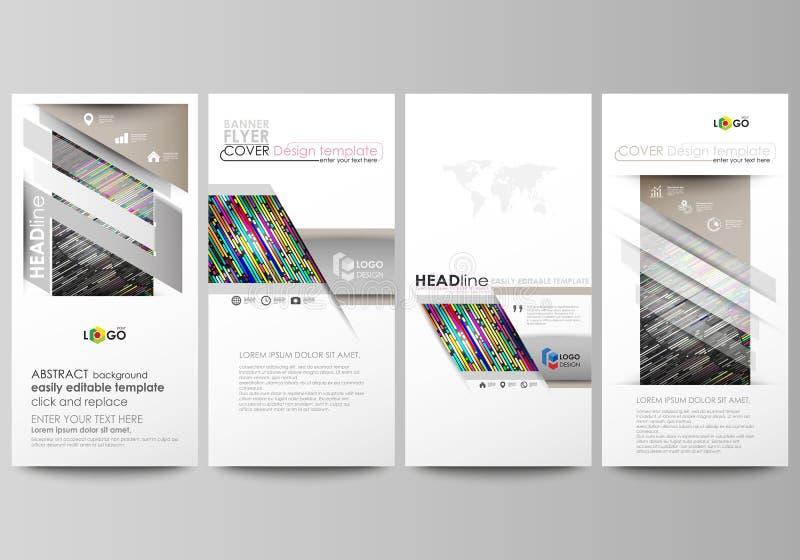Aviadores fijados, banderas modernas Modelos del asunto Cubra la plantilla del diseño, disposiciones editable fáciles del vector  libre illustration