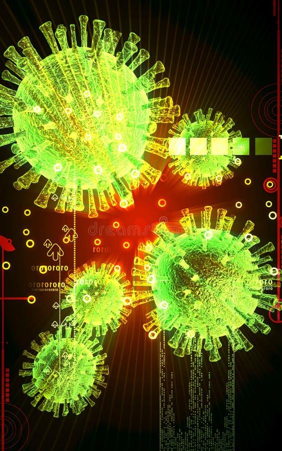 Download Avian Virus stock illustration. Illustration of effects - 21840979
