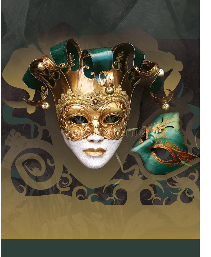 Aviateur d'an neuf de carnaval de mascarade illustration stock