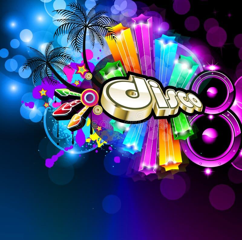 Aviateur de disco de musique pour des événements de danse illustration stock