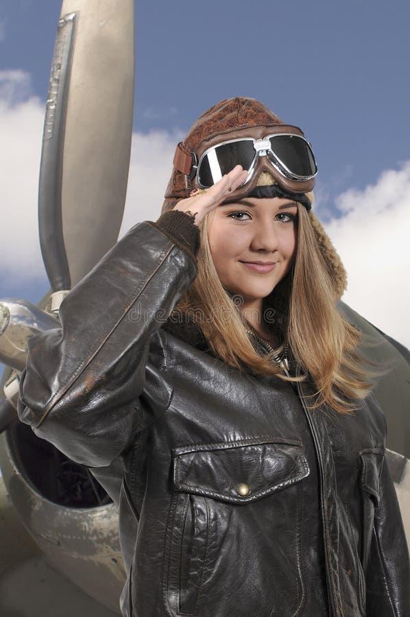 Aviateur de vintage de femme images libres de droits