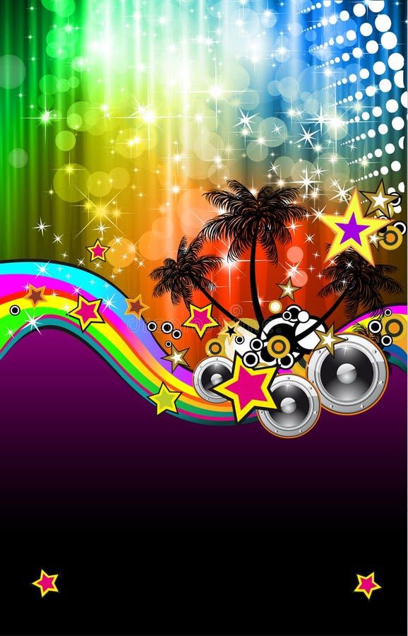 Aviateur latin d'événement de disco pour des affiches illustration de vecteur