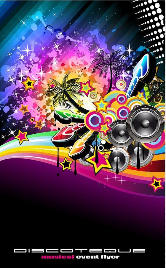 Aviateur latin de musique de danse de disco de Tropilca illustration stock