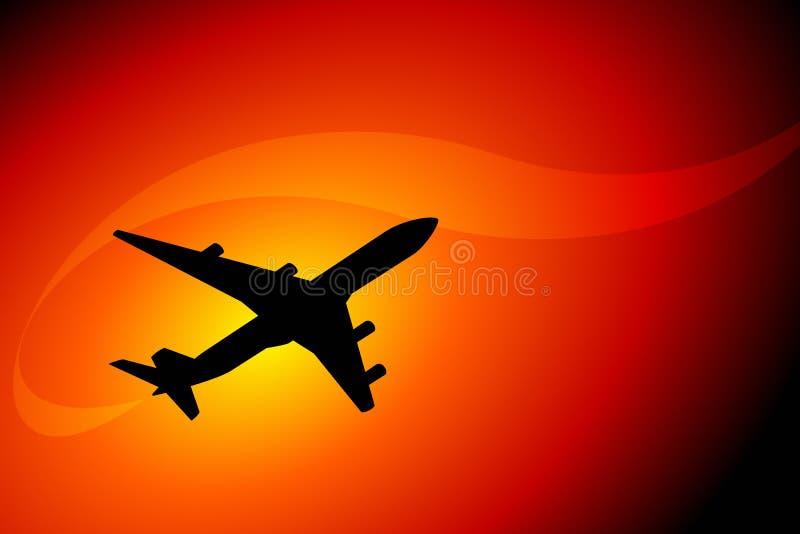Aviation illustration stock