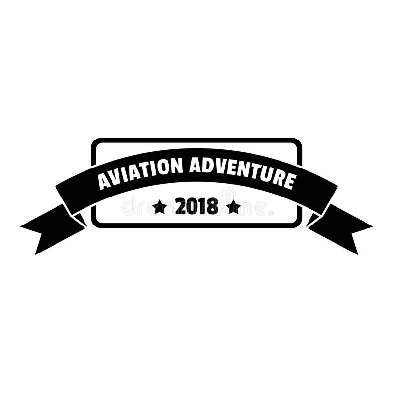 Aviation adventure 2018 logo, simple style. Aviation adventure 2018 logo. Simple illustration of aviation adventure 2018 logo for web design isolated on white royalty free illustration