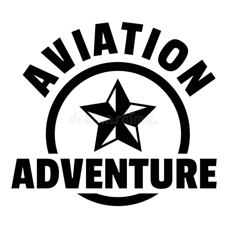 Aviation adventure logo, simple style. Aviation adventure logo. Simple illustration of aviation adventure logo for web design isolated on white background stock illustration