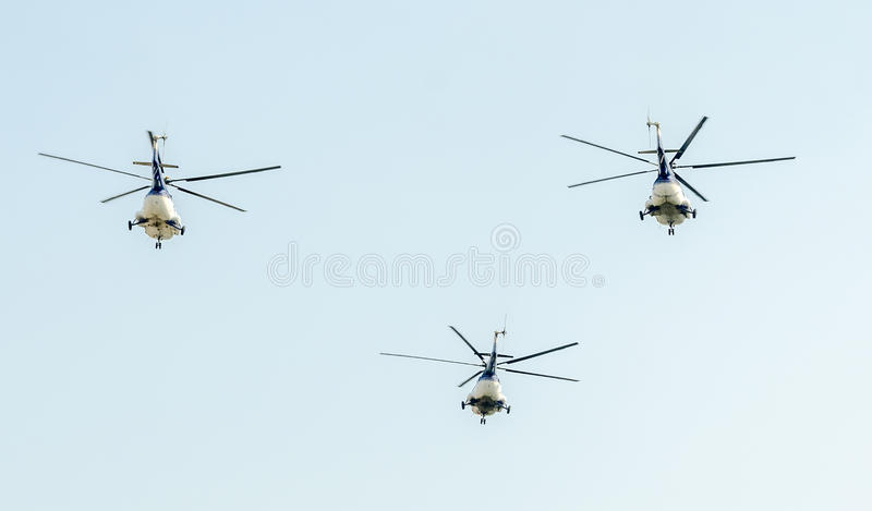 The Aviation Day near Aviators Statue. Helicopter in the air. Bucharest, Romania. The Aviation Day near Aviators Statue. Helicopter in the air. Bucharest stock images