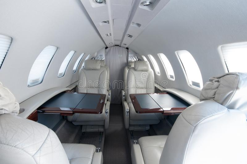Aviation and executive airplanes high performance turbine jets. Aviation executive jets transportation around the world civil transportation, inside de jets royalty free stock photo