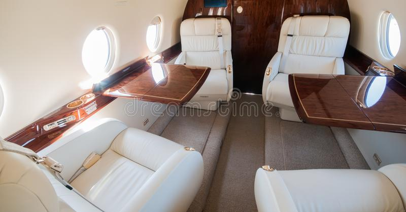 Aviation and executive airplanes high performance turbine jets. Aviation executive jets transportation around the world civil transportation, inside de jets royalty free stock image