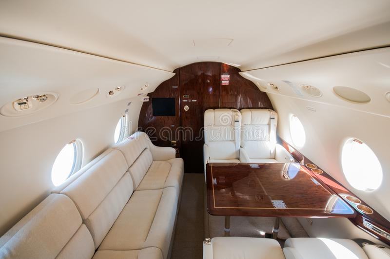 Aviation and executive airplanes high performance turbine jets. Aviation executive jets transportation around the world civil transportation, inside de jets stock photo