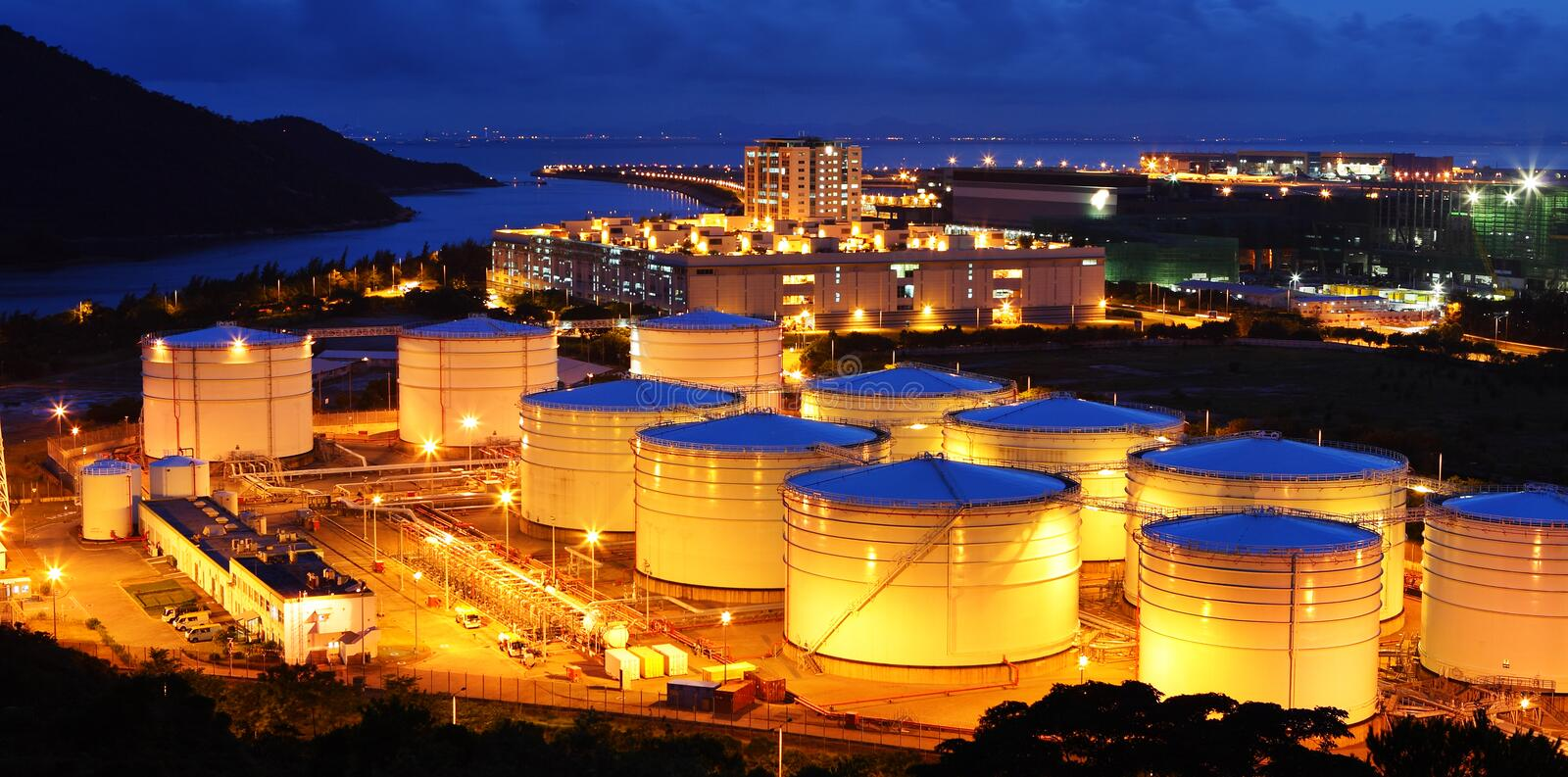 Aviation Fuel Tank Farm Stock Image  Image Of Color  Metal
