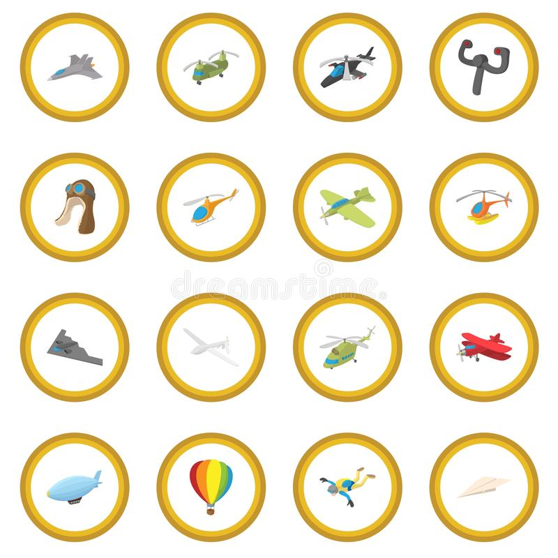 Aviation icon circle. Cartoon isolated vector illustration royalty free illustration
