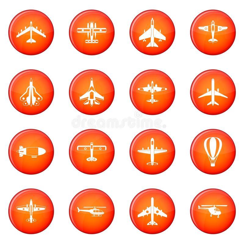 Aviation icons set stock illustration