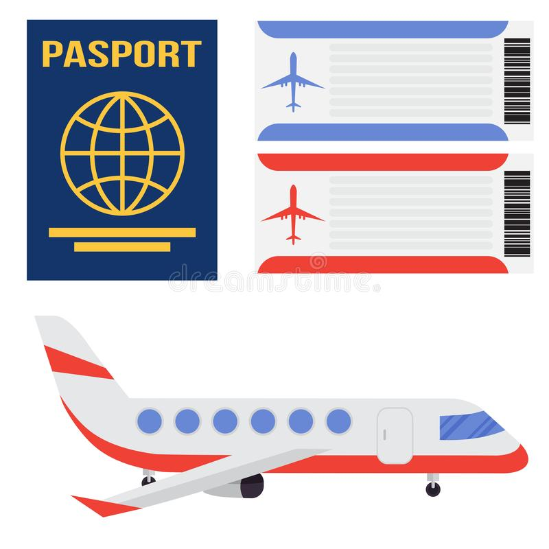 Aviation icons vector set airline graphic airplane airport transportation fly travel symbol illustration stock illustration