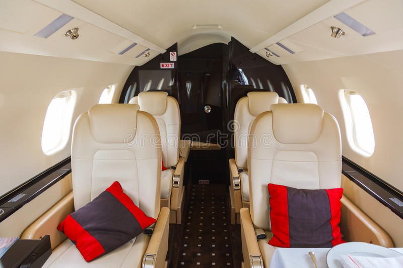 Aviation intérieure de luxe d'affaires d'aéronefs image libre de droits