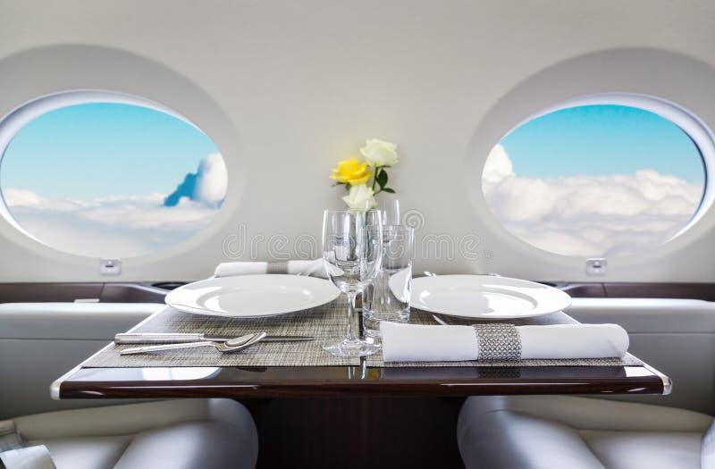 Aviation intérieure de luxe d'affaires d'avions image libre de droits