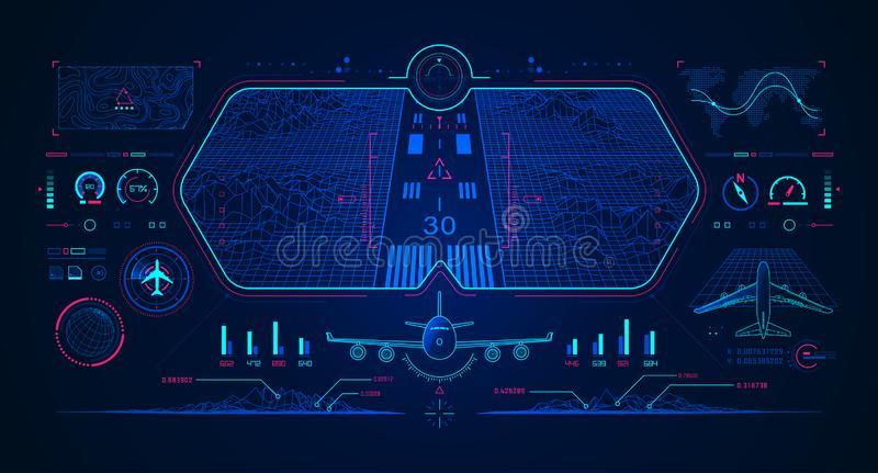 Aviation interface royalty free illustration