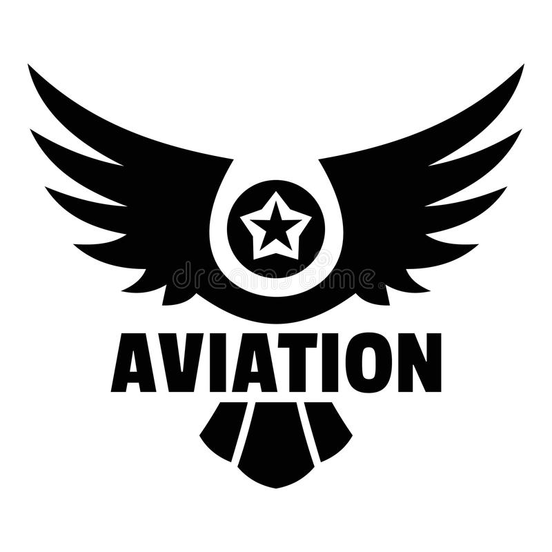 Aviation logo, simple style. Aviation logo. Simple illustration of aviation vector logo for web design isolated on white background royalty free illustration