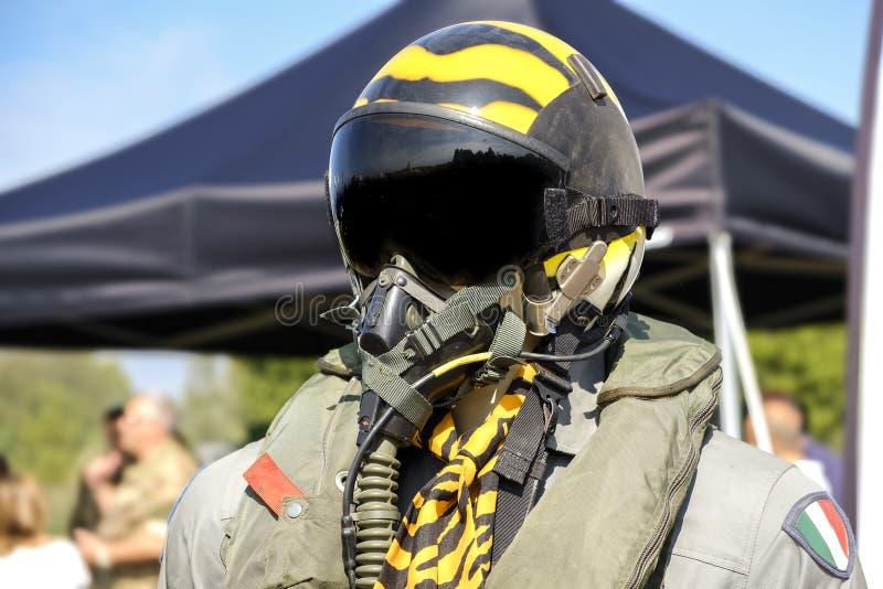 Aviation military pilot helmet aeronautics.  stock image