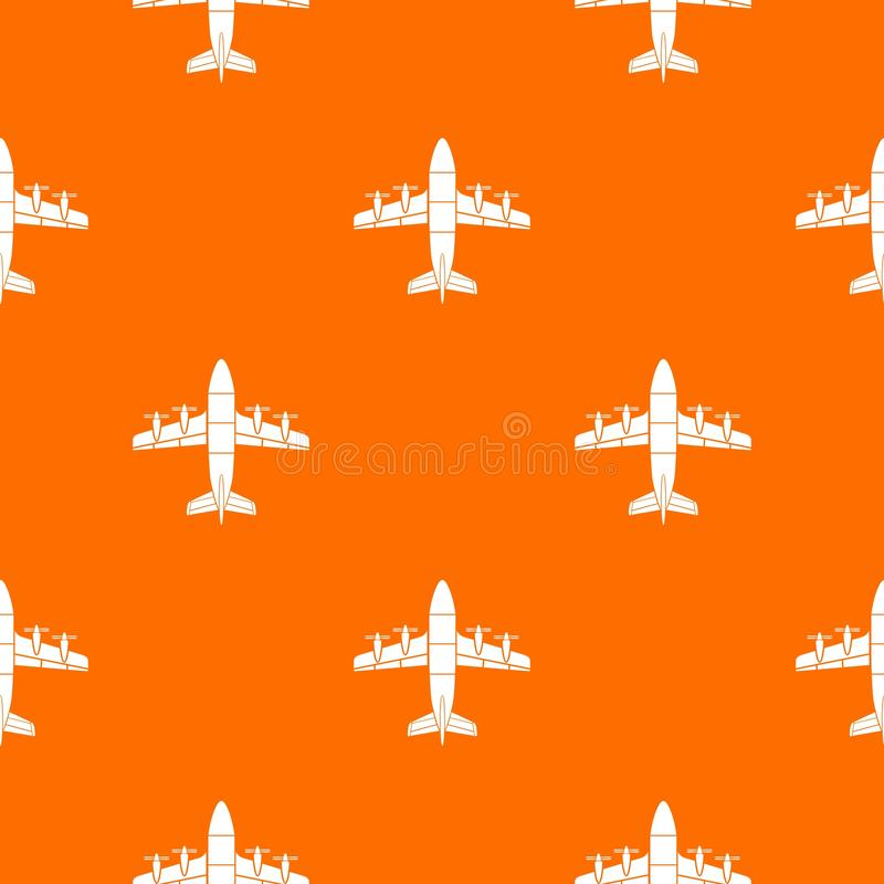 Aviation pattern vector orange. For any web design best royalty free illustration
