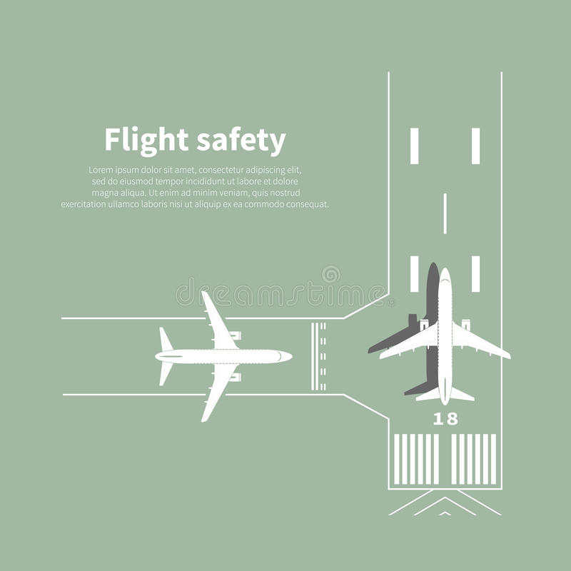 Aviation safety. Infographic. Scene 3. Vector illustration stock illustration