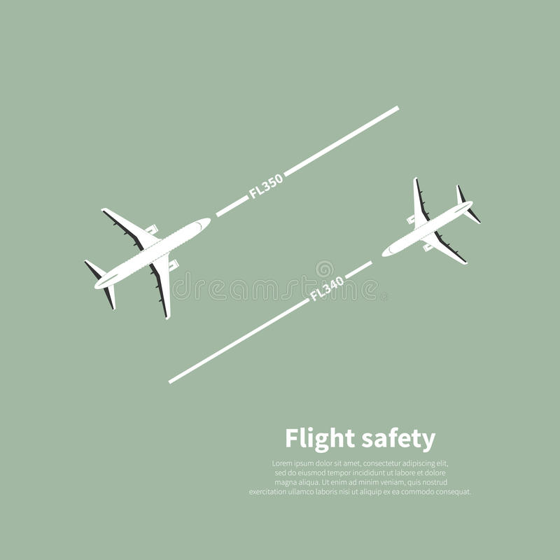 Aviation safety. Infographic. Scene 4. Vector illustration vector illustration