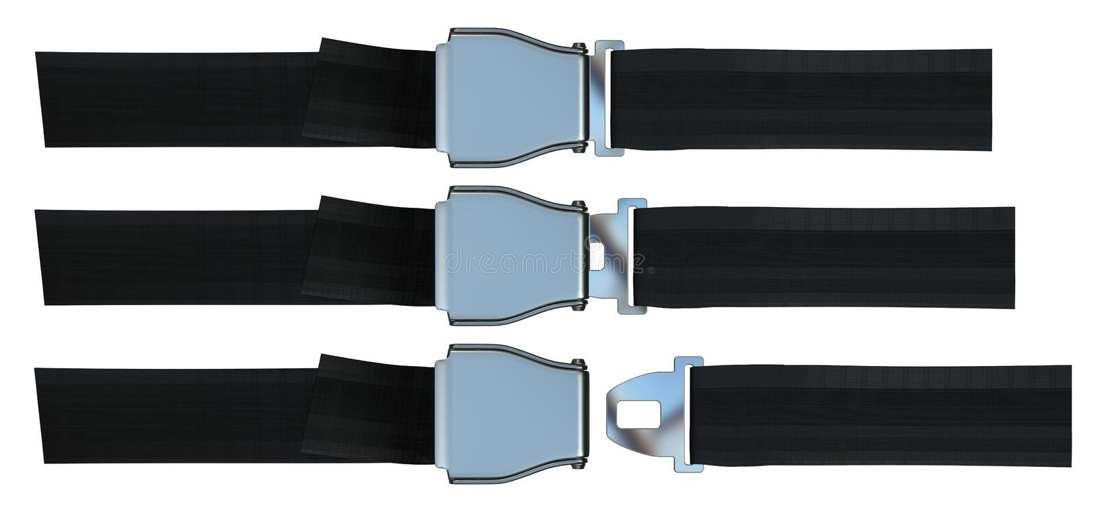 Aviation seat belt vector illustration