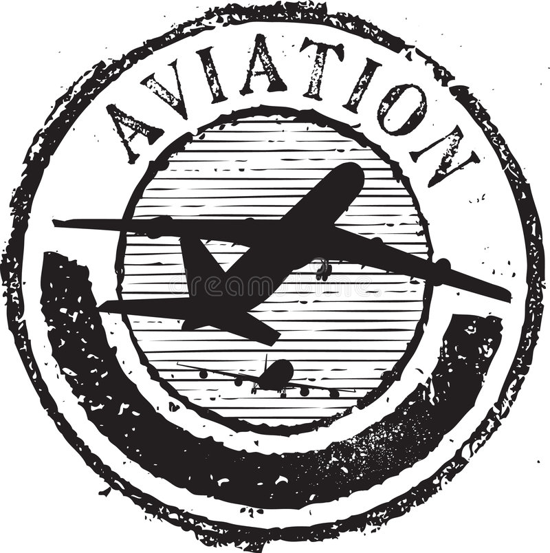 Free Aviation Stamp Royalty Free Stock Photography - 8805587