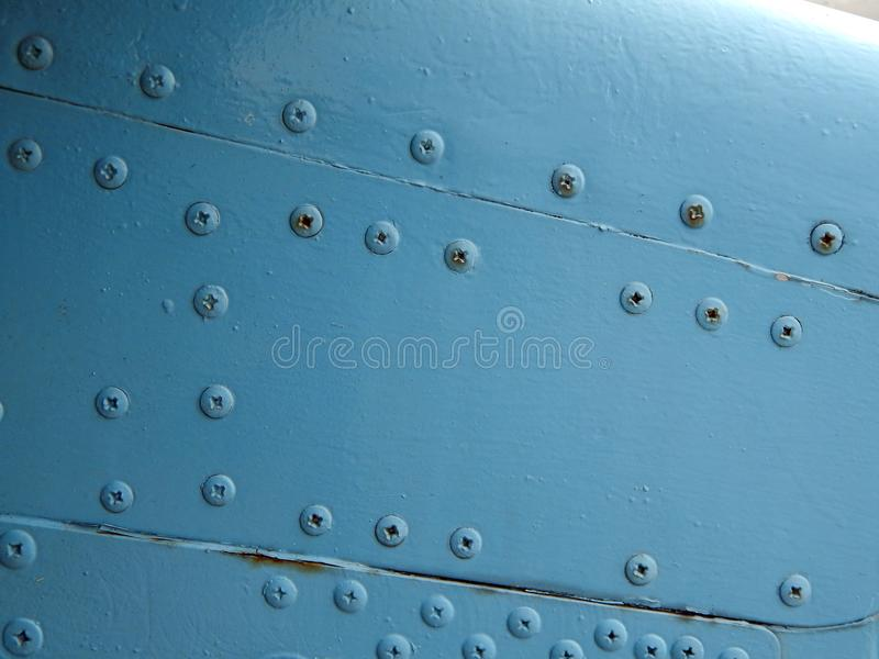 Aviation textures plating of aircraft and helicopter. Rivets royalty free stock image