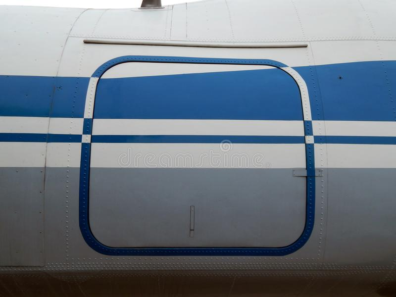 Aviation textures plating of aircraft and helicopter. Rivets stock photography