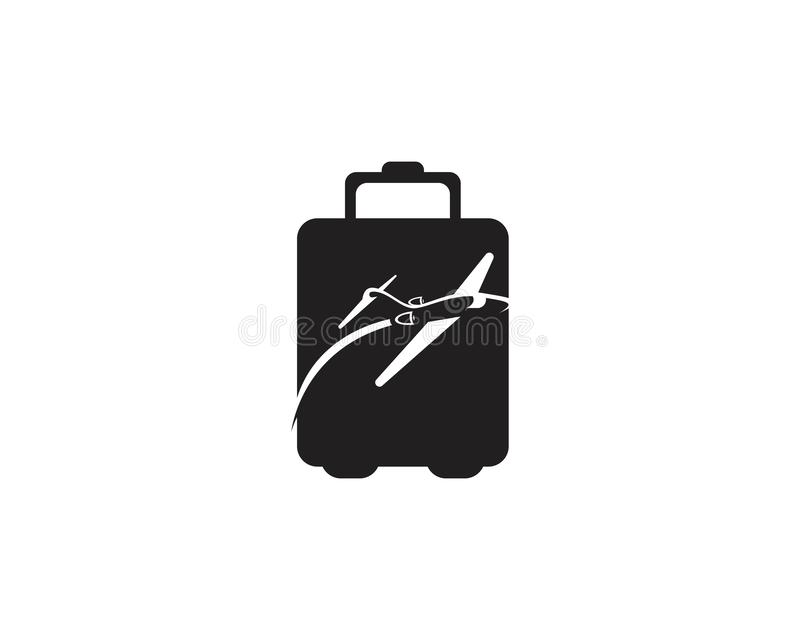 Aviation travel icon logo. Adventure air aircraft airplane applique background card childlike cloud concept copy space creative cutout design flat flight fly royalty free illustration
