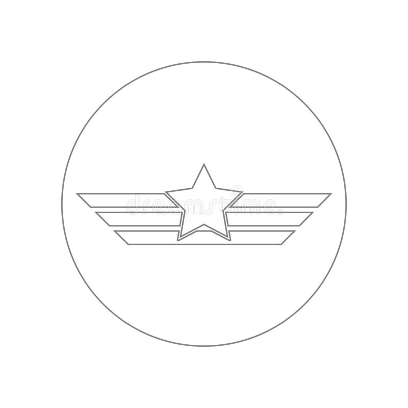 Aviation wings icon. Element of Army for mobile concept and web apps icon. Outline, thin line icon for website design and. Development, app development on white vector illustration