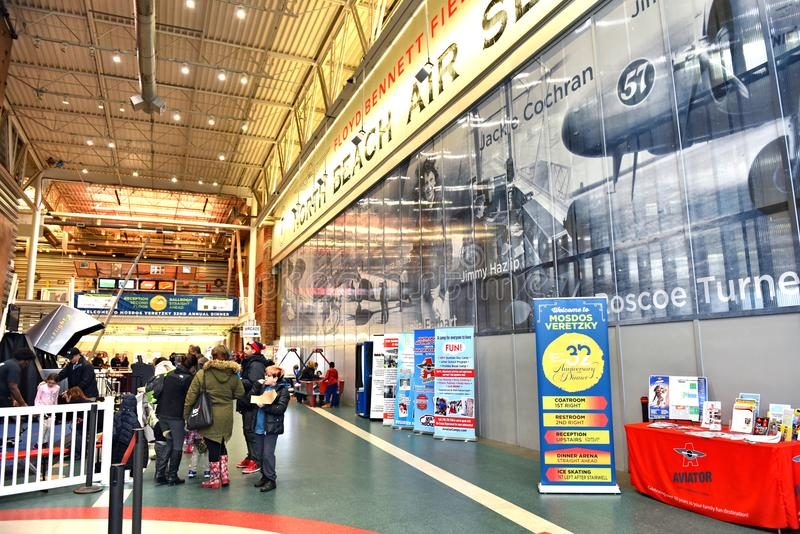 Aviator New York Brooklyn Sports Events Center Editorial