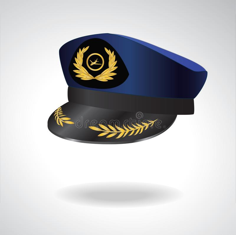 Aviator Peaked cap of the pilot. Civil aviation and air transport. royalty free stock photos