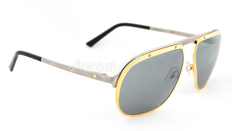 Aviator sun glasses on a white background stock image