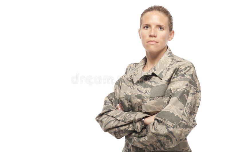 Aviatore femminile serio immagine stock libera da diritti
